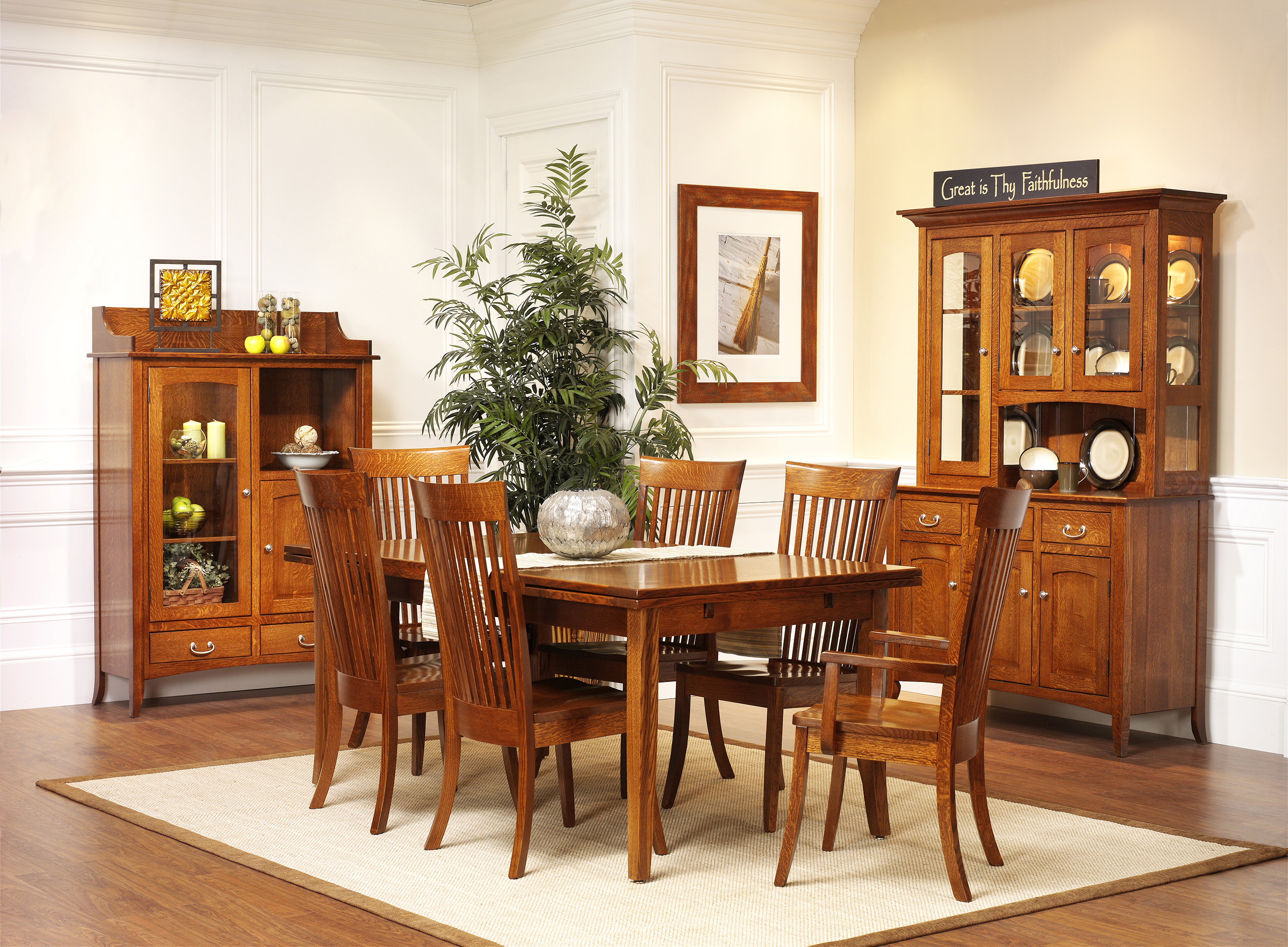 the amish gallery dining room. Black Bedroom Furniture Sets. Home Design Ideas